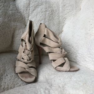 Elizabeth and James soft strappy cut out heels